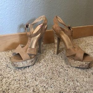 Madden girl 8 1/2 cork heels